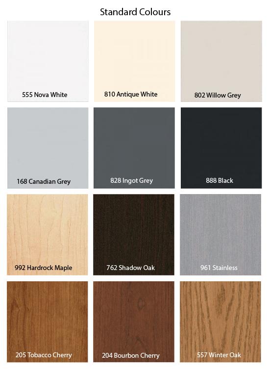 Kooiman Standard Exterior Colours