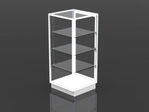 full style security tower 54 inch high - 24 inch square