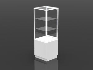 one third style security tower 72 inch high - 24 inch square