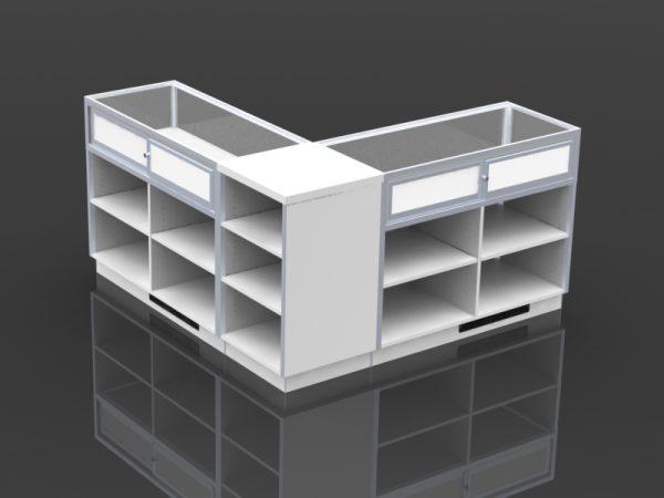 21 inch square corner application rear corner