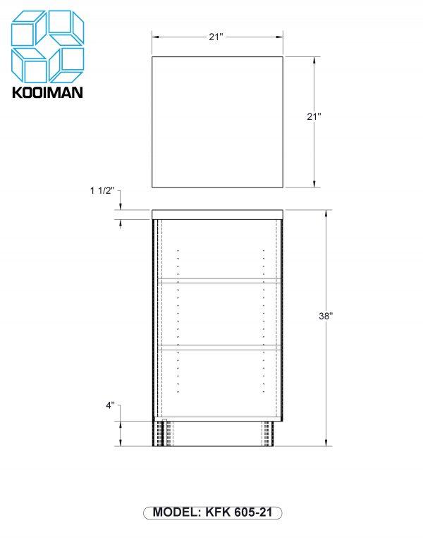 21 inch square corner filler standard dimensions