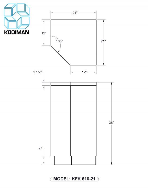 21 inch hex filler standard dimensions