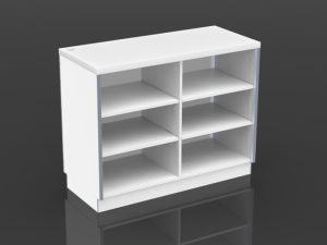 48 inch cash desk open storage
