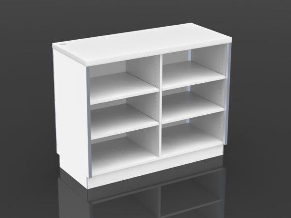 48 inch cash desk open storage