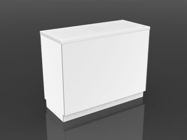 48 inch cash desk open storage front